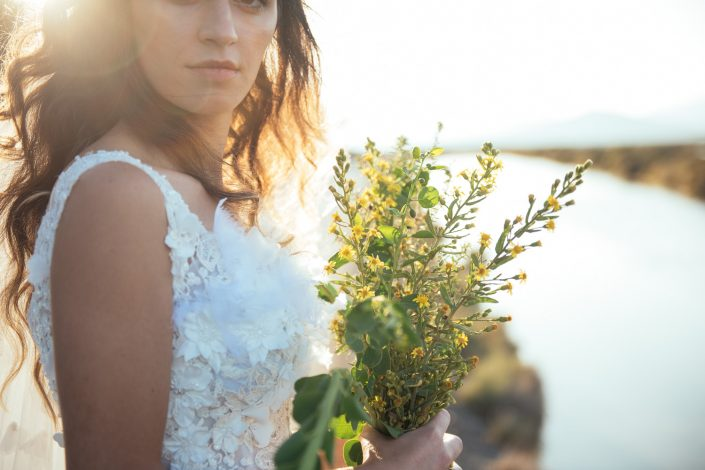 A gorgeous bride in biza