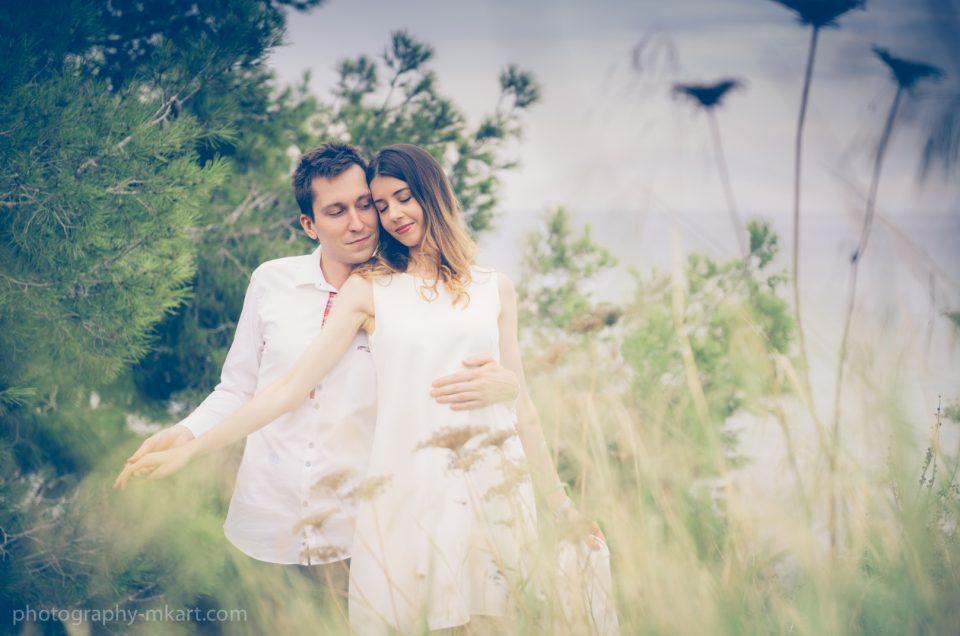 Engagement photo session in Ibiza. Monika and Paul
