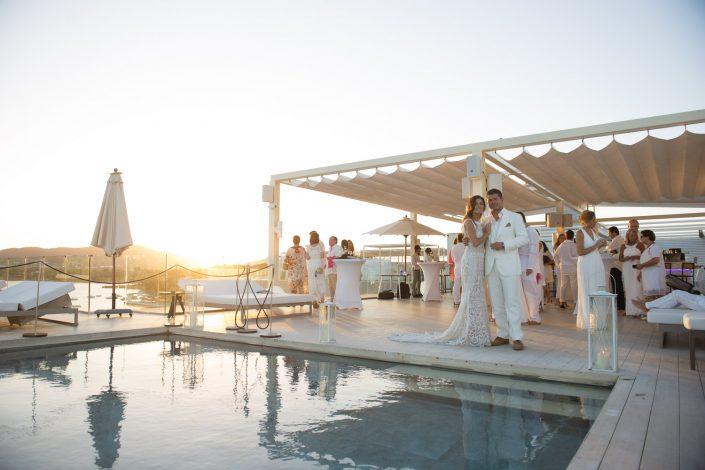 Wedding celebration in Ibiza