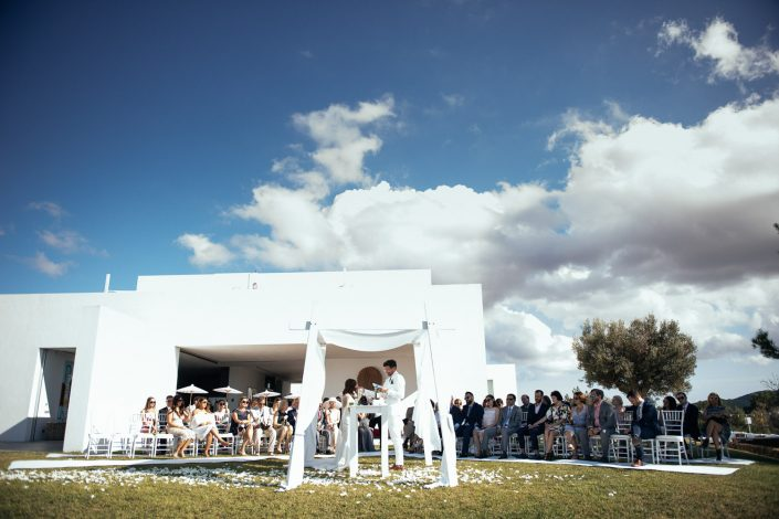 At the ceremony. Wedding in Ibiza