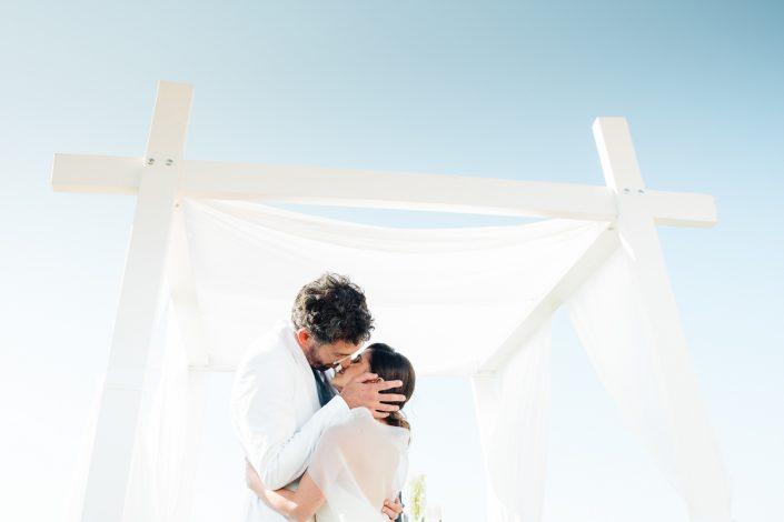 At the ceremony. Wedding in Ibiza at the private villa