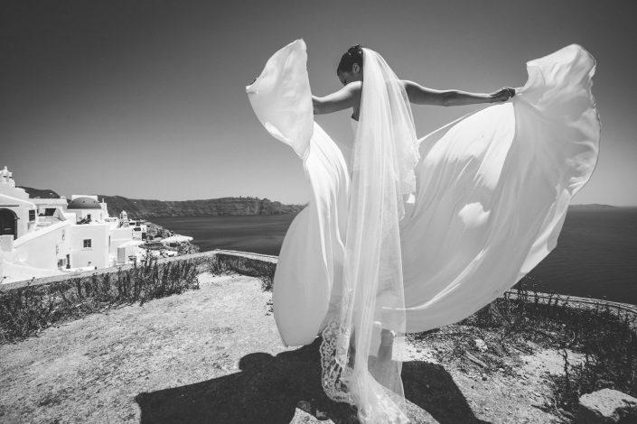 Santorini bride.