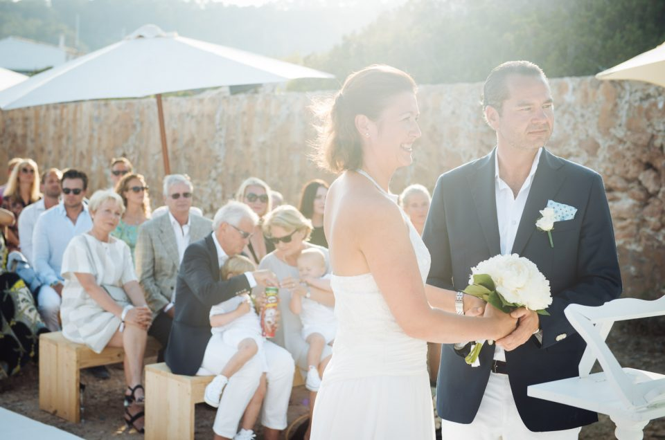 Surprise wedding in Ibiza.