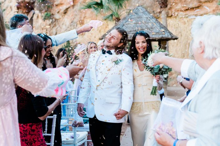 The end of the wedding ceremony in Amante, Ibiza