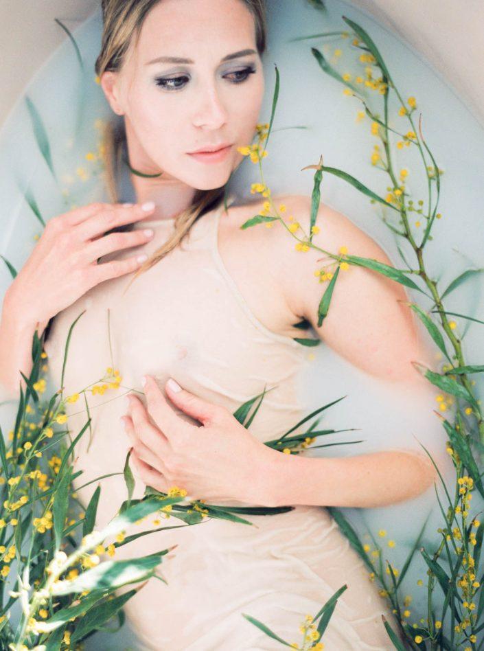 Beautiful Inspirational photoshooting with Ibiza mimosa flowers