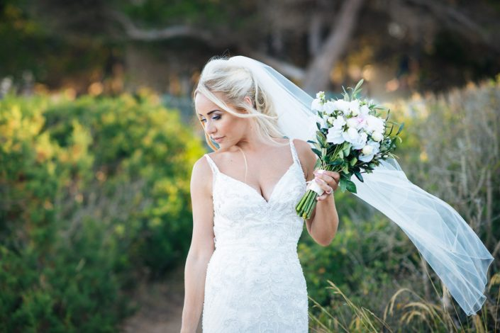 The bride with the flowers