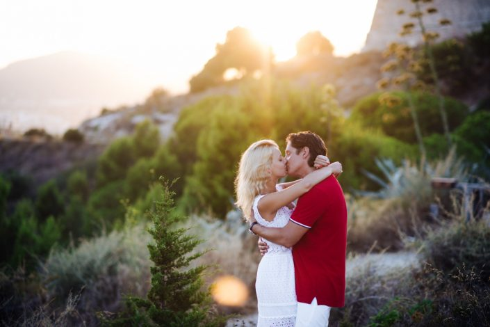 Katya and Sergej came to Ibiza to get engaged. Photography by Masha Kart