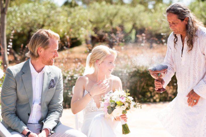 Wedding ceremony in Ibiza