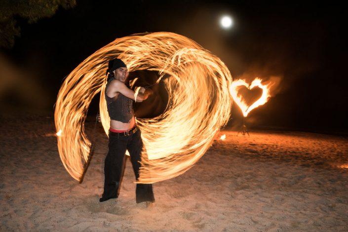 Fire show in Ibiza