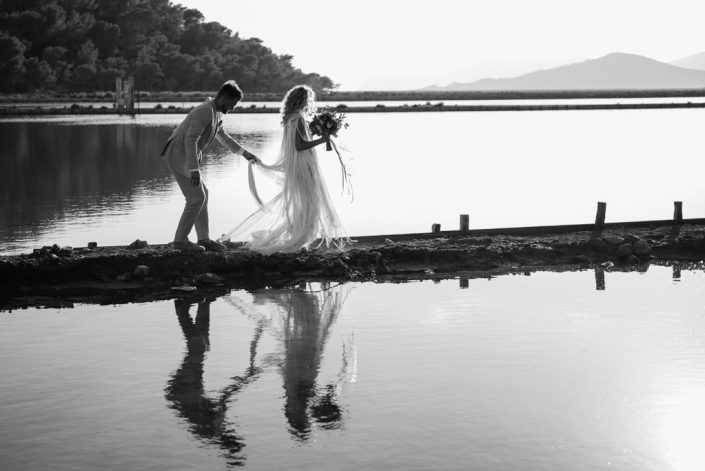 Wedding photo session in Salinas, Ibiza