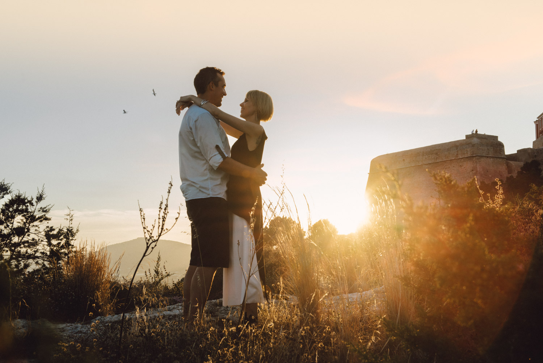 Engagement photographer in Ibiza Masha Kart