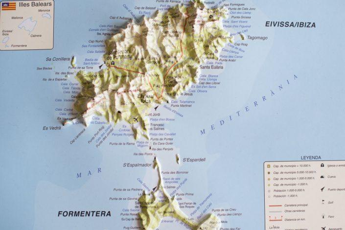 Ibiza map, image by Masha Kart