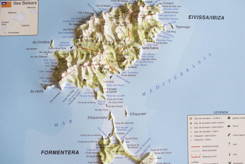Ibiza map - Photography Masha Kart