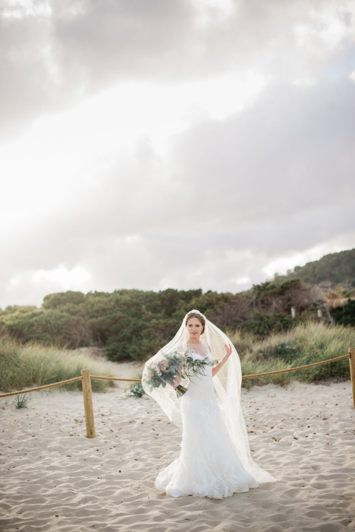 Ibiza wedding photographer Masha Kart. The inspirational photo shooting in Salinas