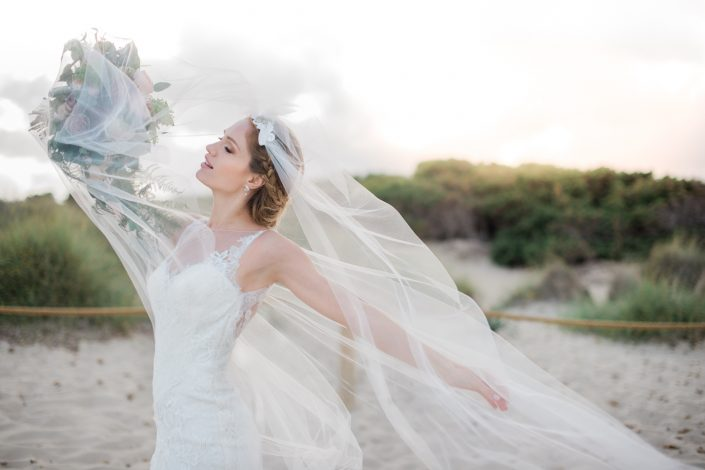 Ibiza bride. Ibiza wedding photographer Masha Kart. The inspirational photo shooting in Salinas