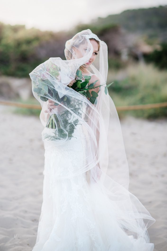 Ibiza wedding photographer Masha Kart. The inspirational photo shooting in Salinas. Wedding flowers