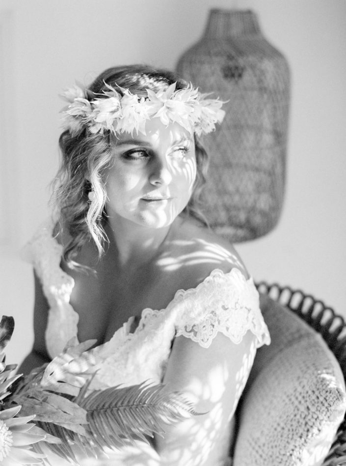 Bridal portrait in Ibiza