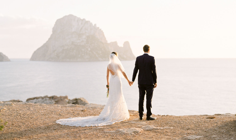 Es Vedra romantic engagement photography