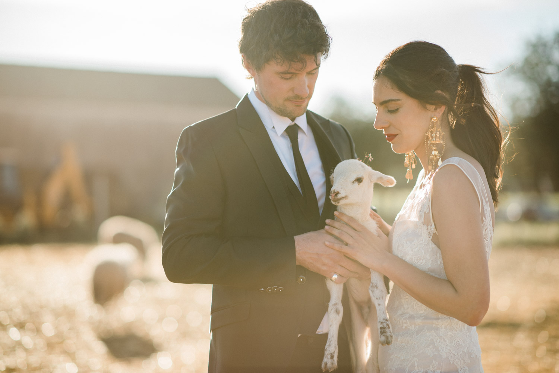 The couple shooting at Ibiza wedding . Photographer Masha Kart