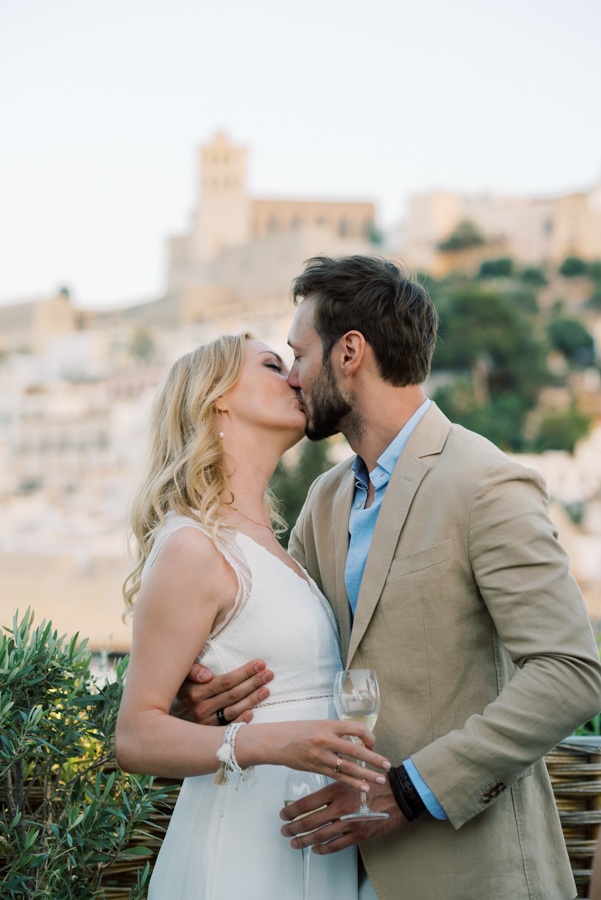 Ibiza old town wedding photography
